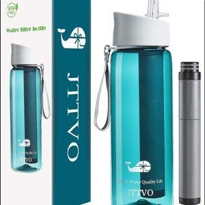 NEW Water Bottle with Filter for Tap Water